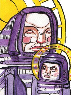 LEX Covato modern illustration art religous scifi mother child robot.jpg