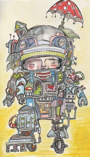 LEX ROBOt Child color painting illustration robot illustration.jpeg