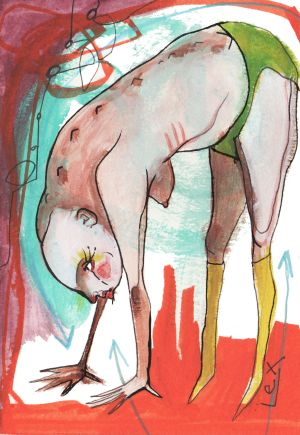 lex covato illustrator conceptual yoga downward dog Magazine art.jpg